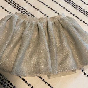 Iridescent silver tutu skirt